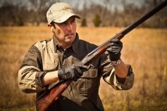 Hunting Quail at Winghaven Lodge with George Gans' Purdey. Photo by Benny Gettinger